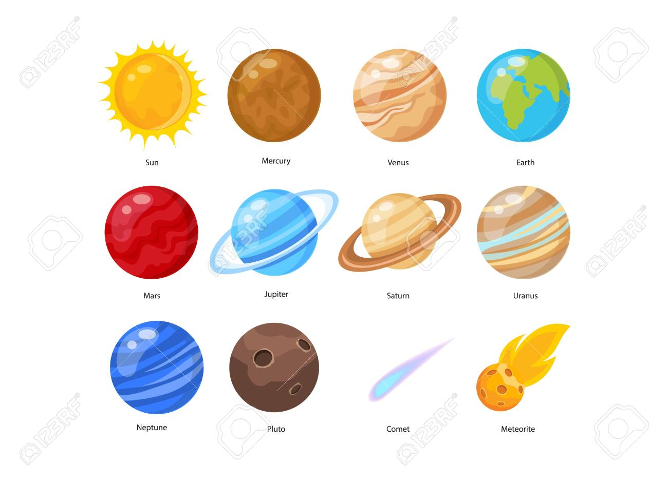 Vector illustration of Space background with stars and planets - 130346660