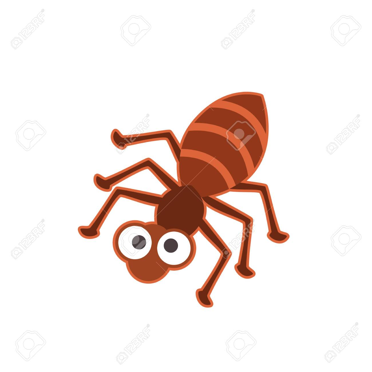 Vector illustration of cute ant on white background - 130347258