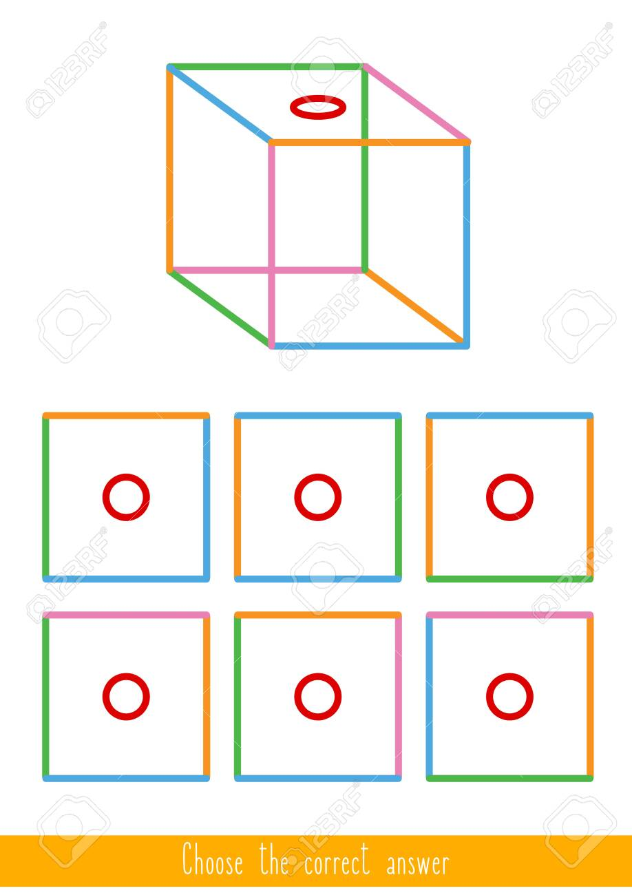 Educational game for kids. Find the correct answer. Vector illustration - 130347269