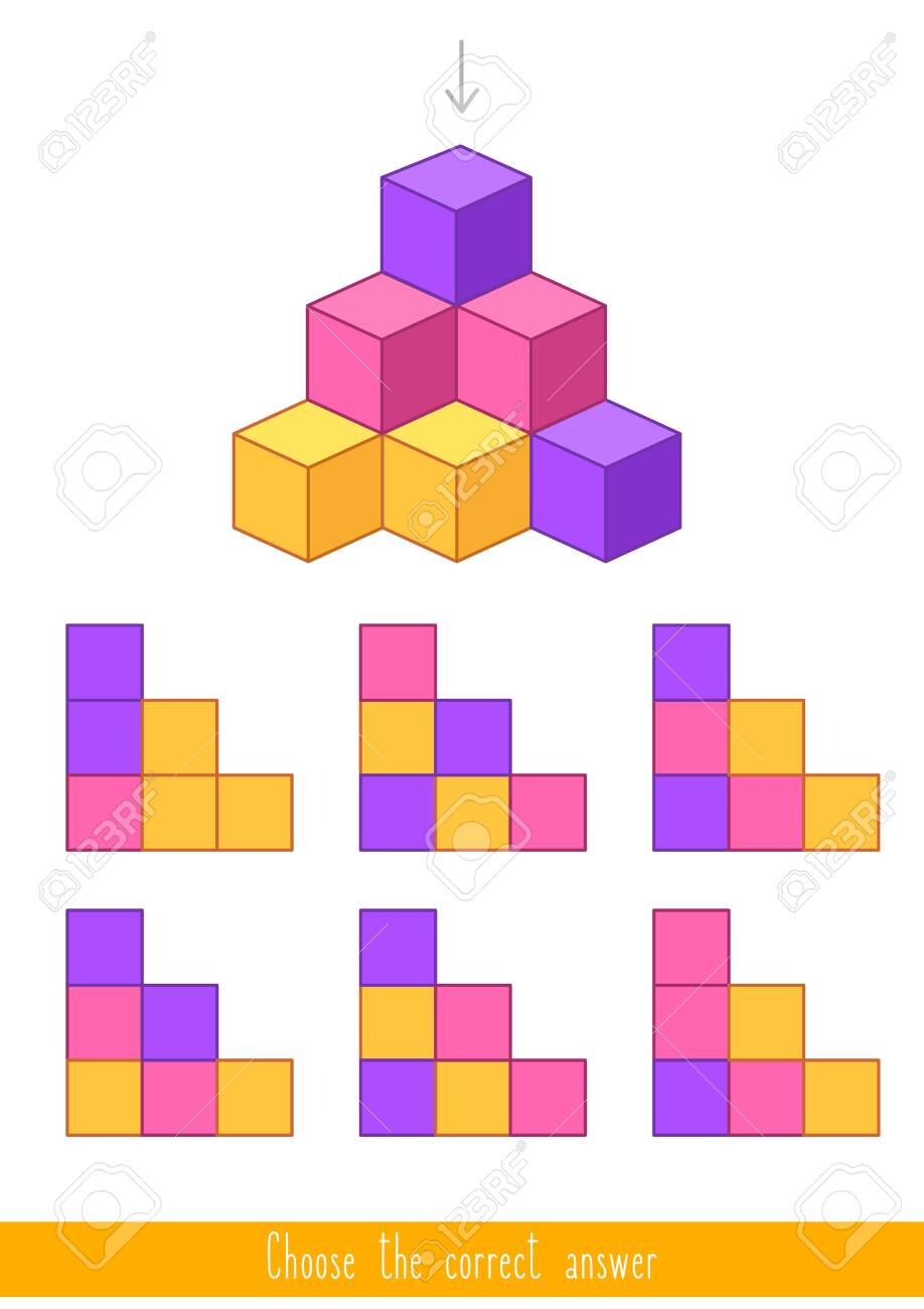 Educational game for kids. Find the correct answer. Vector illustration - 130347271