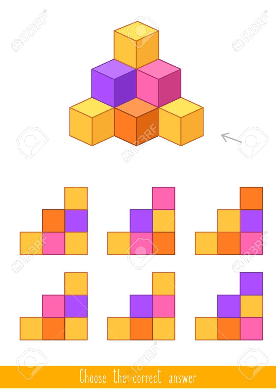 Educational game for kids. Find the correct answer. Vector illustration - 130347272