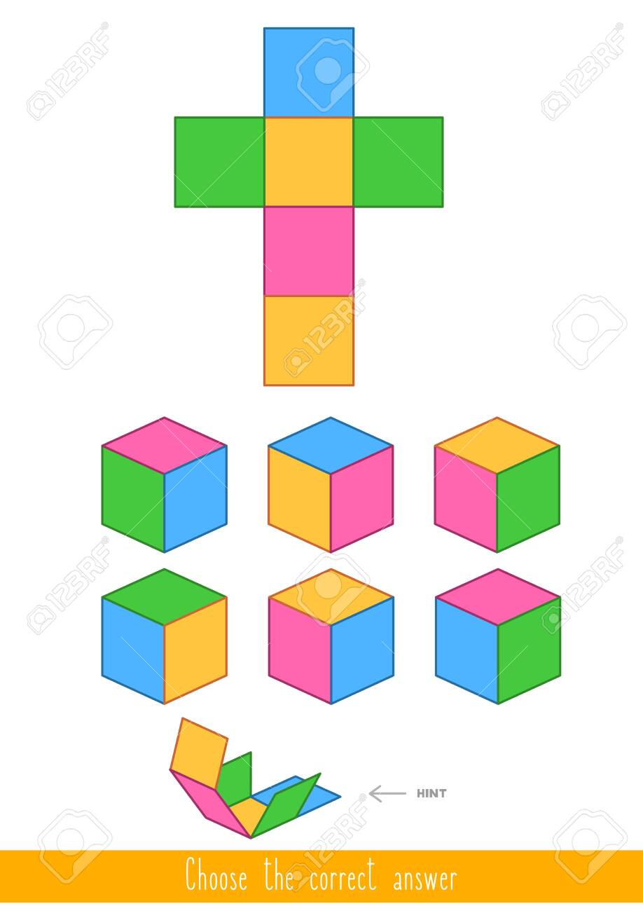 Educational game for kids. Find the correct answer. Vector illustration - 130347367