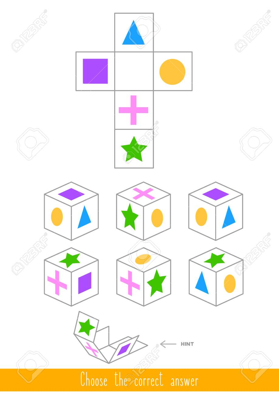 Educational game for kids. Find the correct answer. Vector illustration - 130347377