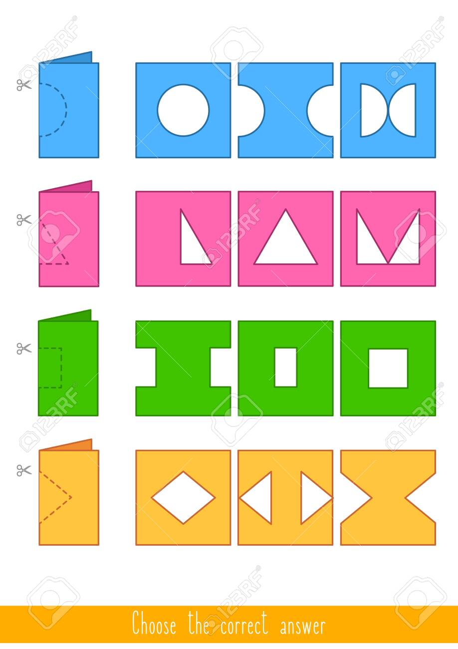 Educational game for kids. Find the correct answer. Vector illustration - 130347378