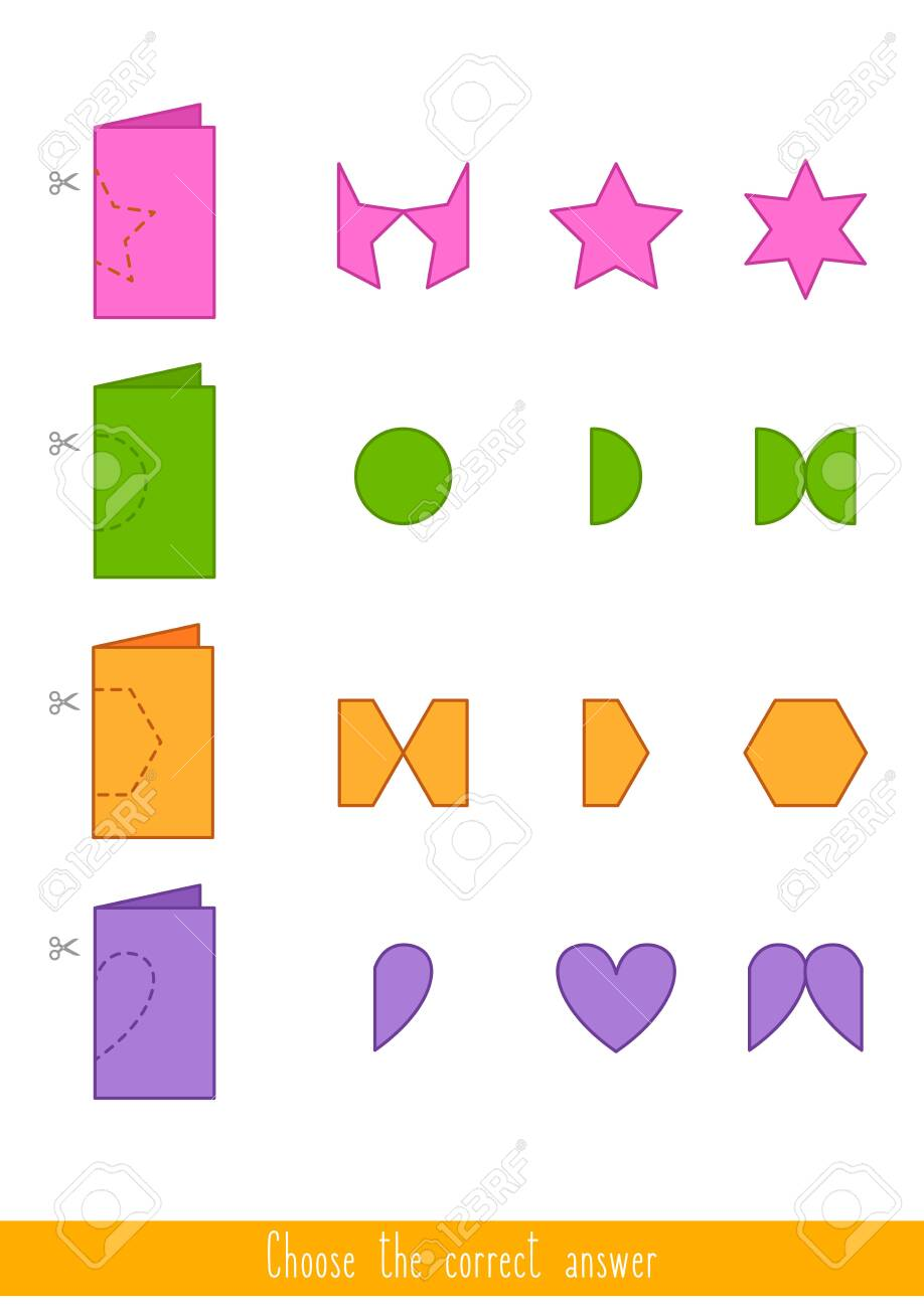 Educational game for kids. Find the correct answer. Vector illustration - 130347372