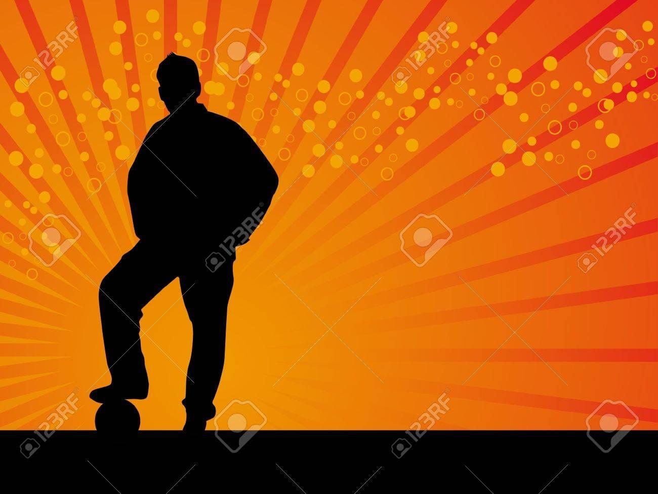 Black man footballer vector background illustration Stock Illustration - 2200564