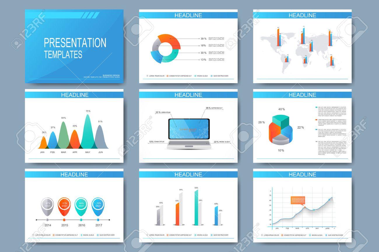 Big Set Of Vector Templates For Presentation Slides. Modern Business ...
