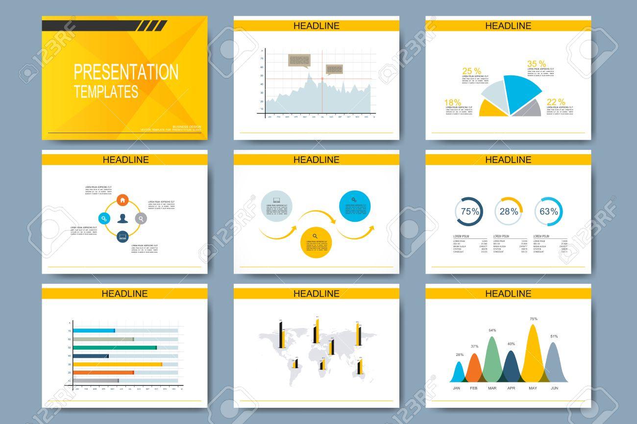 Set Of Vector Templates For Multipurpose Presentation Slides ...