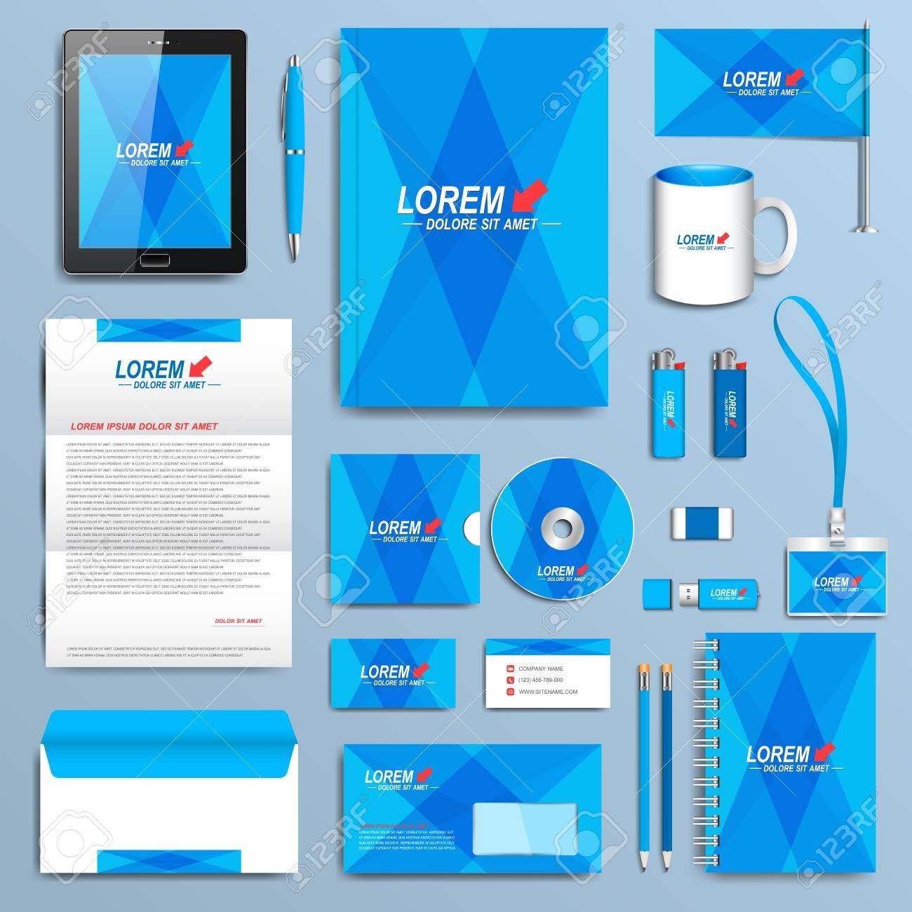 Set of vector corporate identity template modern business set of vector corporate identity template modern business stationery design stock vector 49635179 accmission Image collections