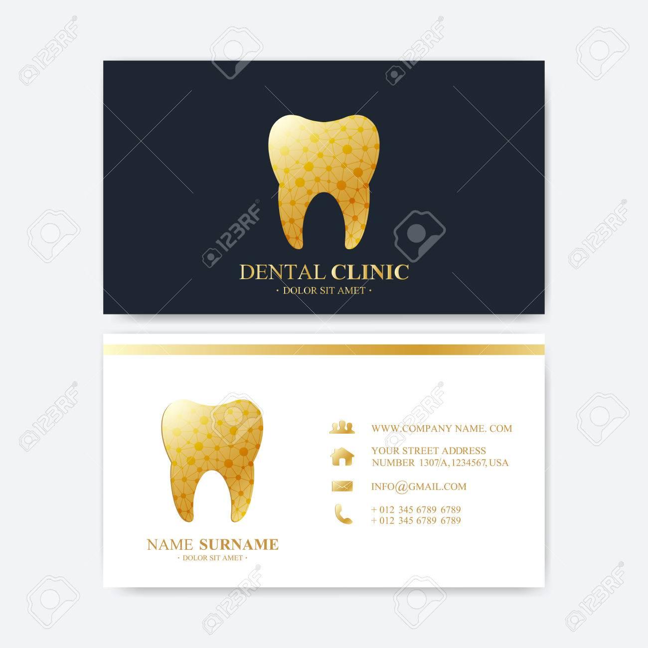 Premium business card print template visiting dental clinic premium business card print template visiting dental clinic card with tooth stock vector 67965276 colourmoves