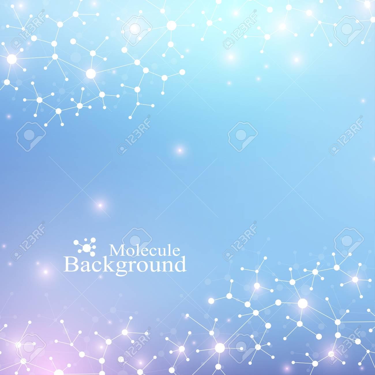 Estructura Moderna Molécula De Adn átomo Molécula Y La Comunicación De Fondo Para La Medicina La Ciencia La Tecnología La Química Telón De Fondo