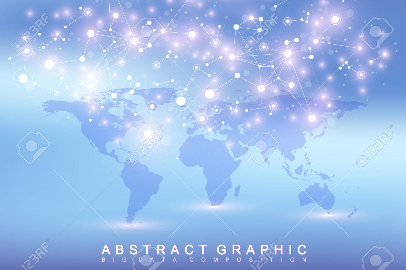 Geometric graphic background communication with political world geometric graphic background communication with political world map big data complex with compounds perspective gumiabroncs Gallery