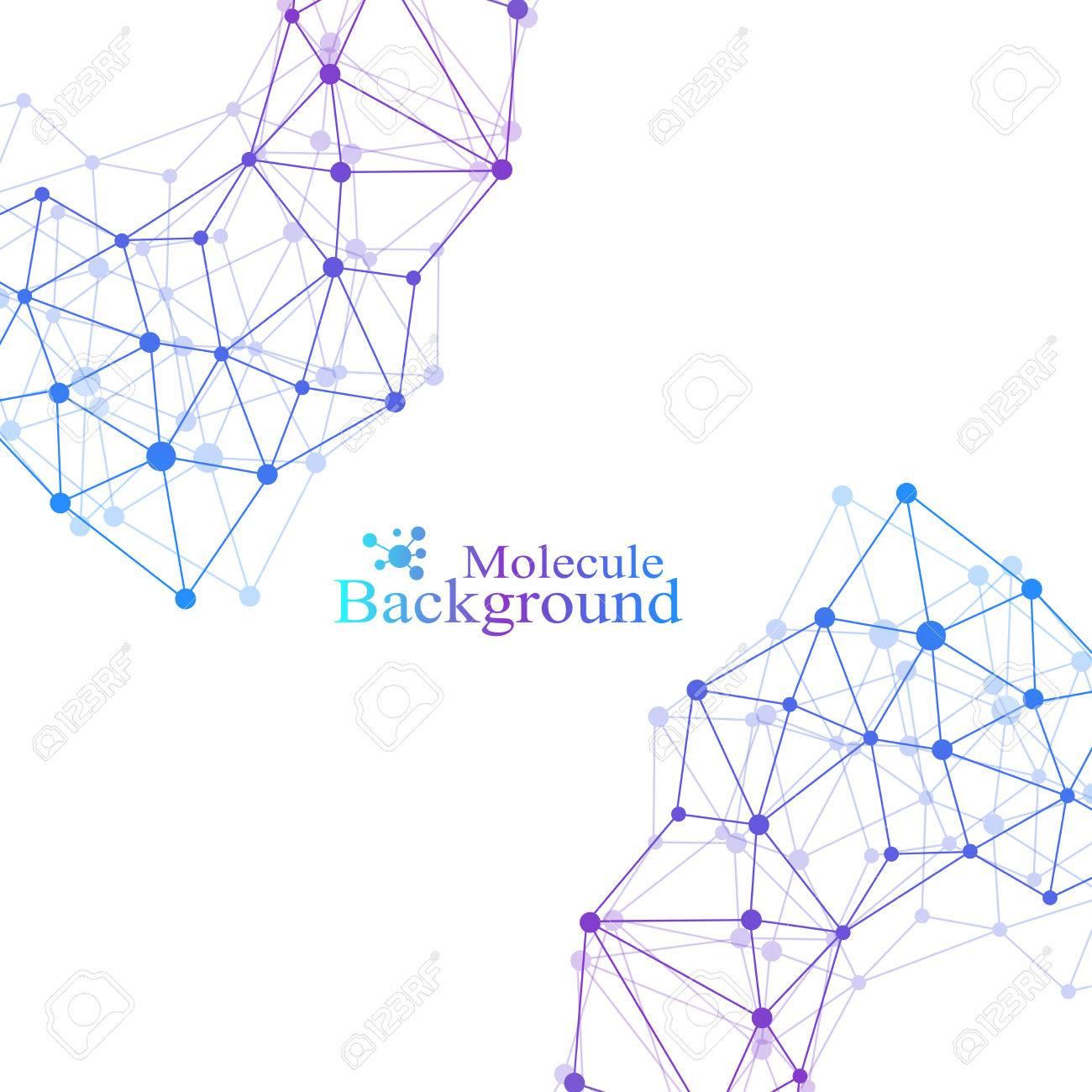 Estructura Moderna Molécula De Adn átomo Fondo De Molécula Y Comunicación Para Medicina Ciencia Tecnología Química Telón De Fondo Científico