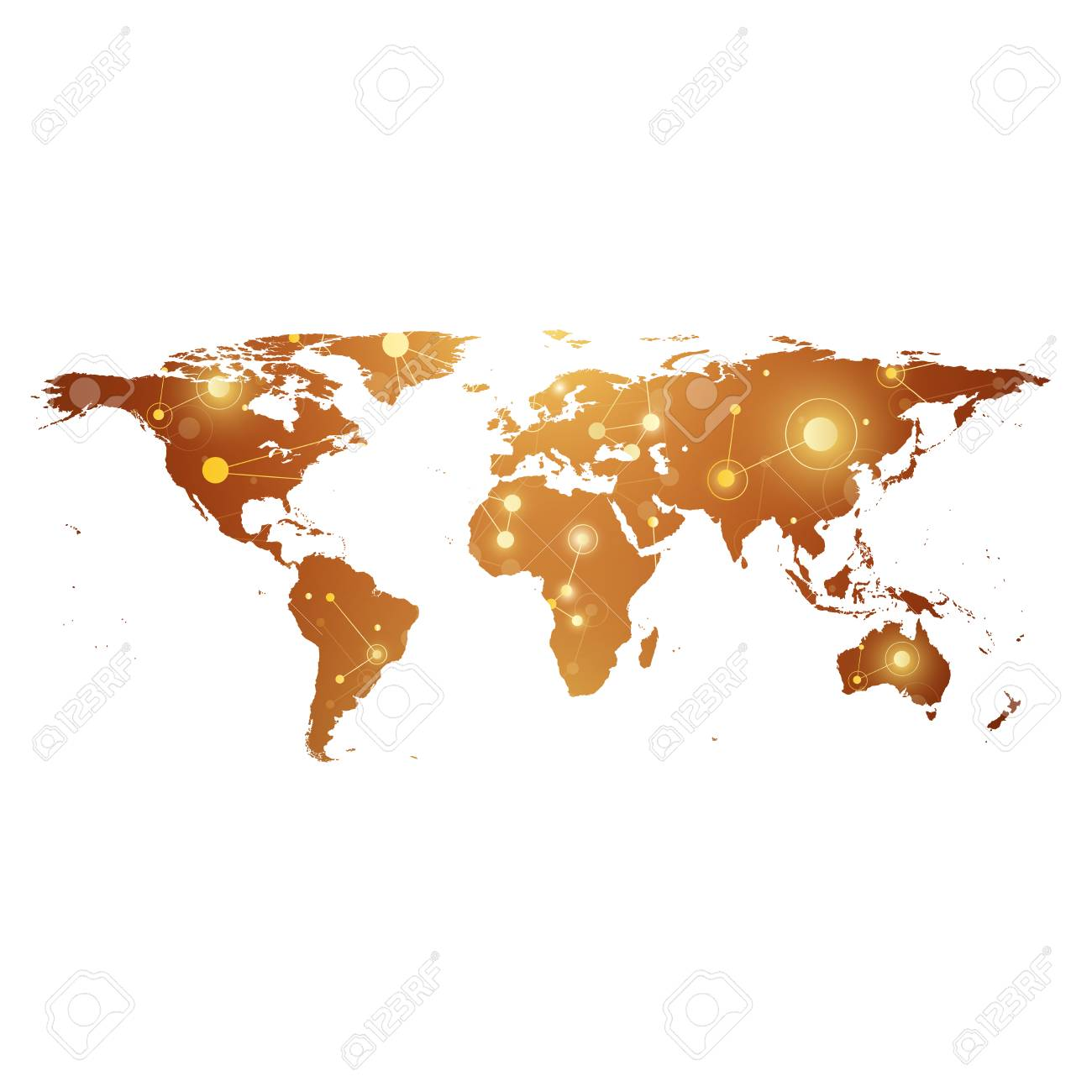 Golden political world map with global technology networking golden political world map with global technology networking concept digital data visualization scientific cybernetic gumiabroncs Choice Image