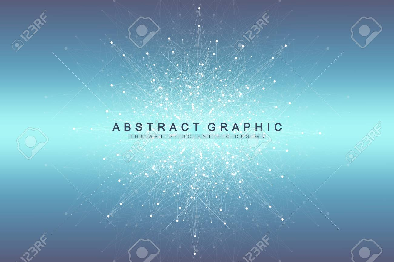 Big data visualization. Graphic abstract background communication. Perspective backdrop. Minimal array. Digital data visualization. Representing the global, international meaning. Vector illustration - 100766893