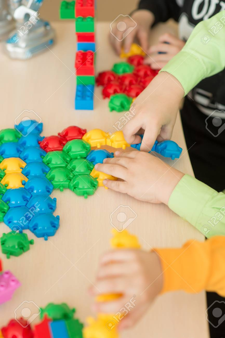 Kids Playing With Puzzle Education Concept Educational Games Stock Photo Picture And Royalty Free Image Image 103505502