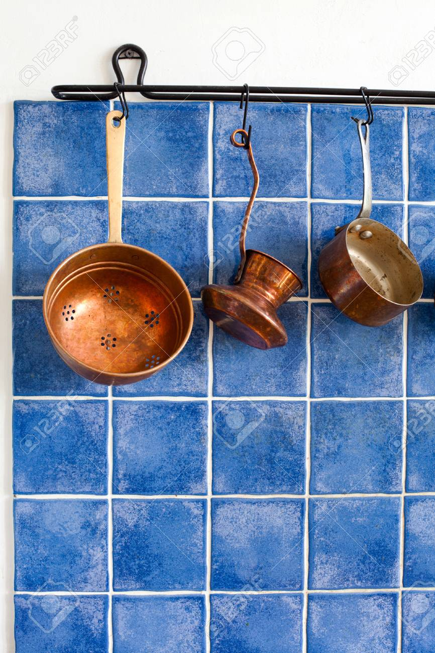 Vintage Kitchen Tools. Copper Kitchenware Set. Pot, Coffee Maker ...