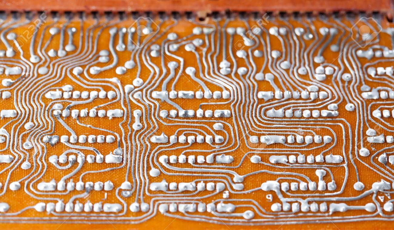 Vintage Circuit Board Everything About Wiring Diagram Recycled Minimagnetic Geek Clipboard With Soldering Trace Backside Brown Rh 123rf Com Assembly