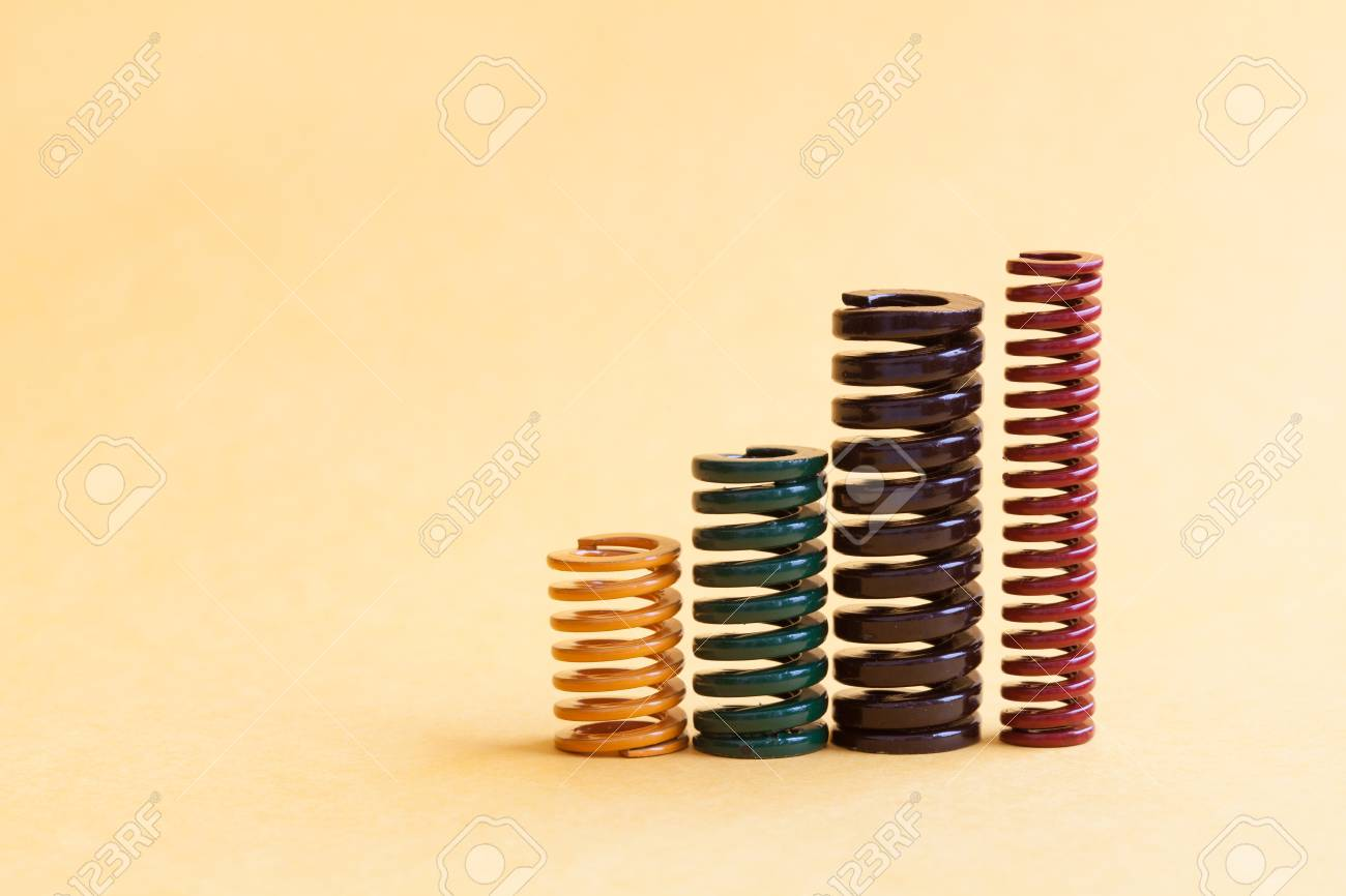 Iron Spring Set Different Hardness Flexibility Sizes. Colorful ...