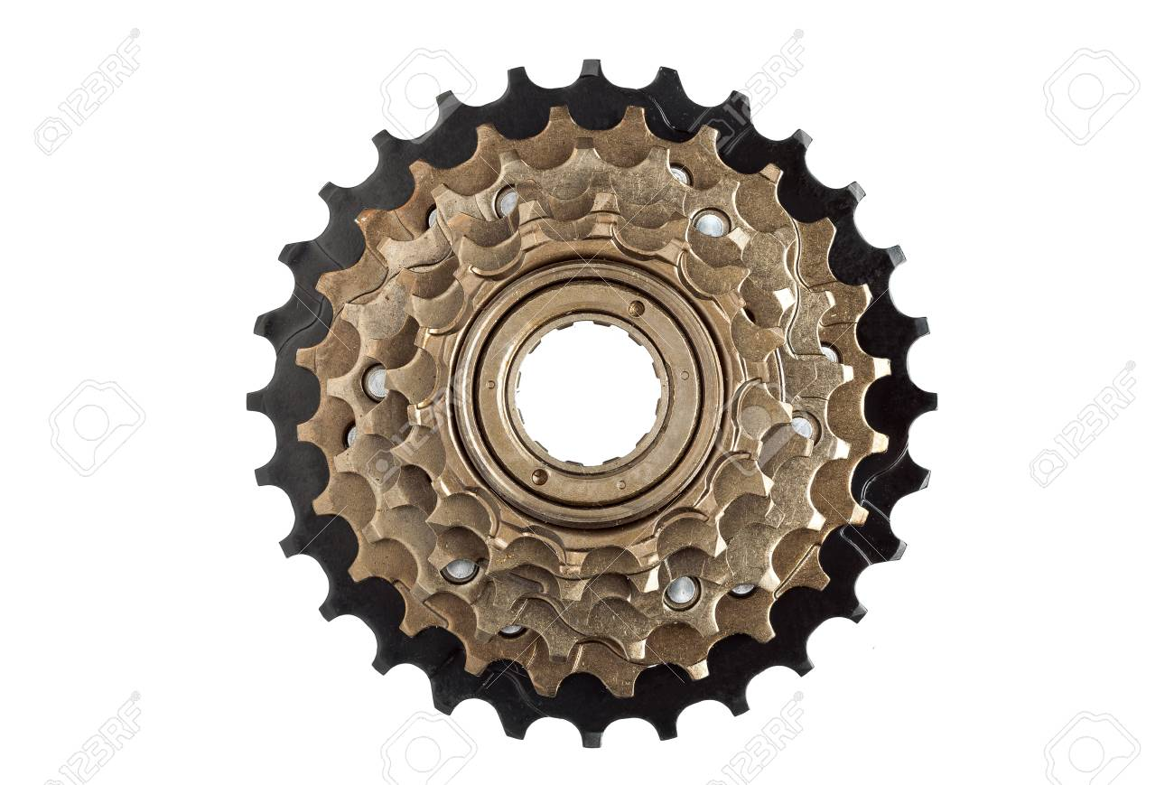 Bike Rear Cassette Bicycle Spare Parts On A White Background
