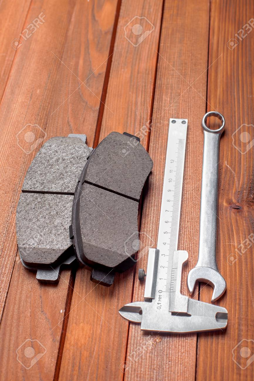 The Tool For Replacement Of Brake Pads A Spanner Wrench A Caliper