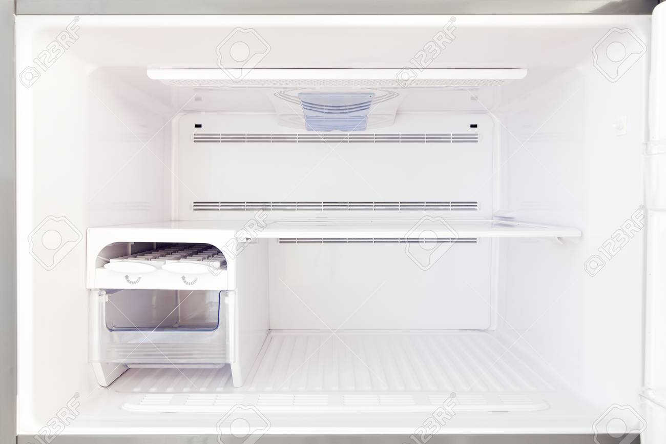 Admirable The Freezer Is A View Inside The Empty Freezer With Empty Shelves Interior Design Ideas Apansoteloinfo