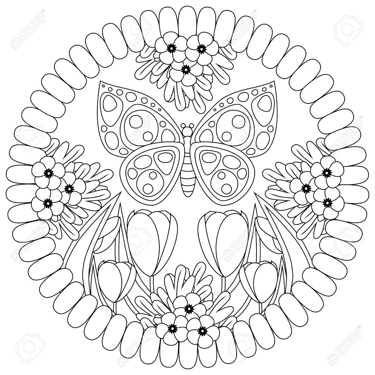 Coloring Book Page For Adults And Kids In Doodle Style Vector Royalty Free Cliparts Vectors And Stock Illustration Image 80944697