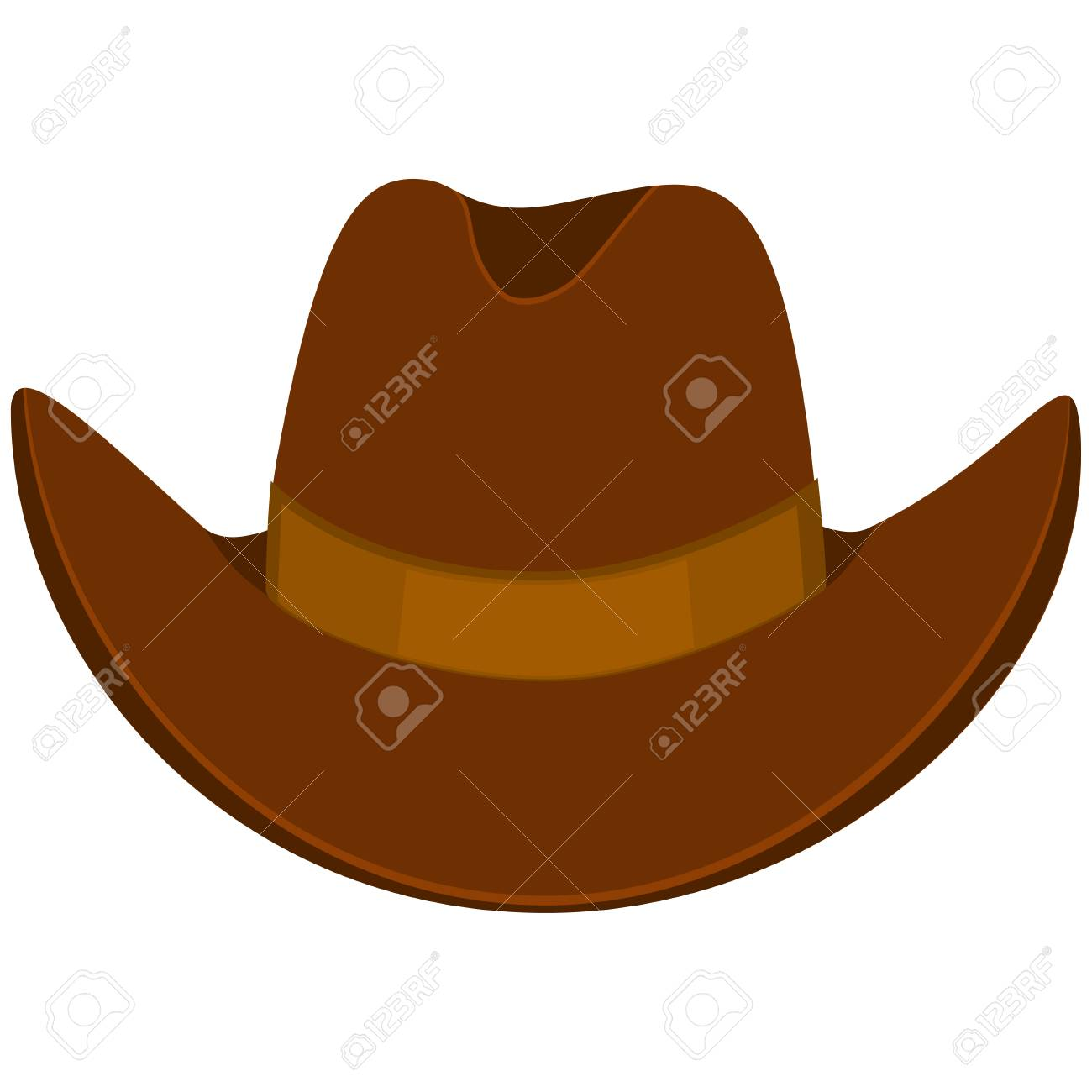 Colorful cartoon cowboy hat. Wild west vector illustration for gift card  certificate sticker 9437394cb80a