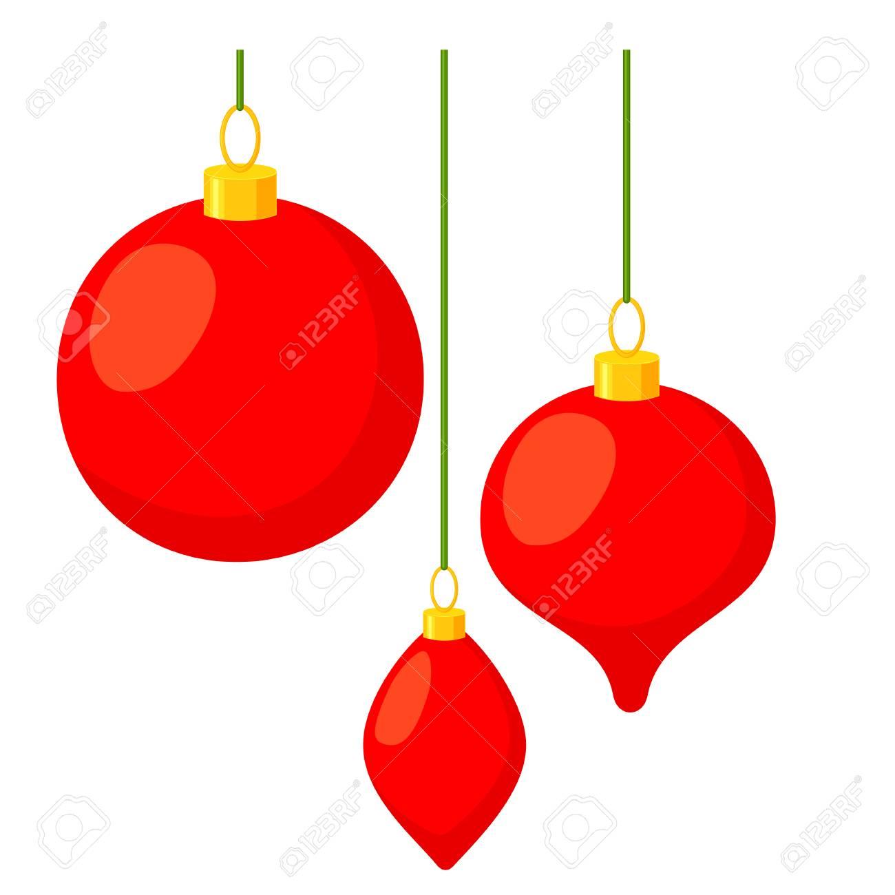 Colorful Cartoon Christmas Tree Decorations Set Three Hanging