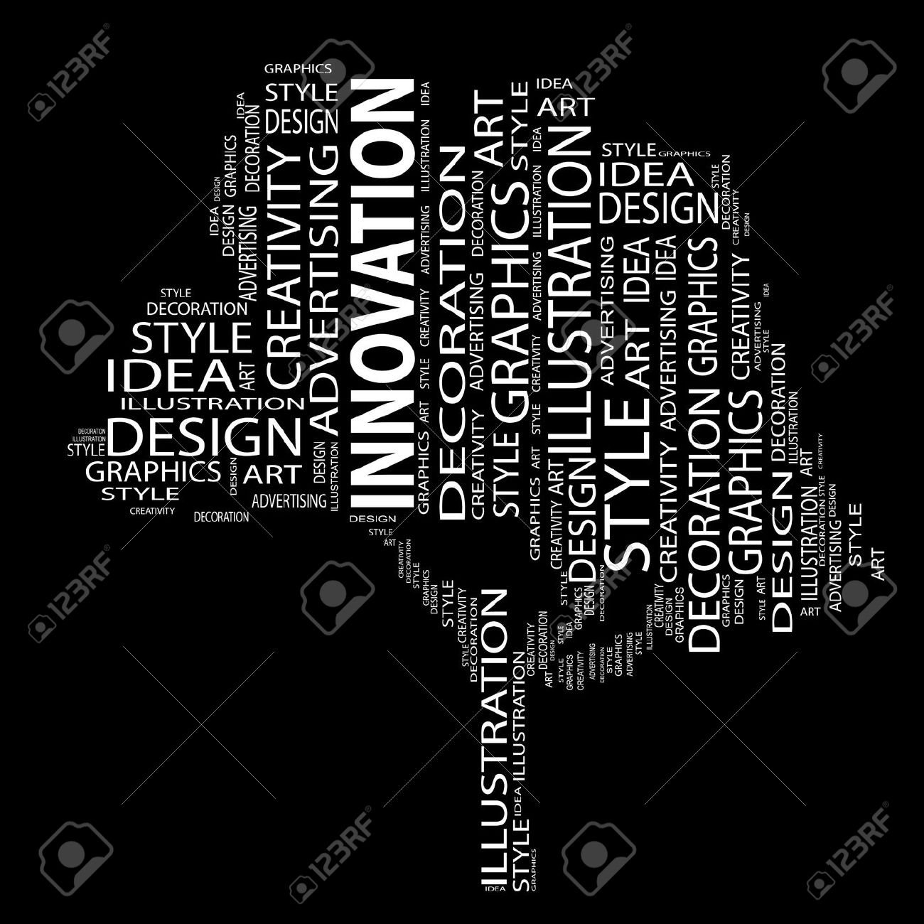 Conceptual Art Design Tree Word Cloud Background