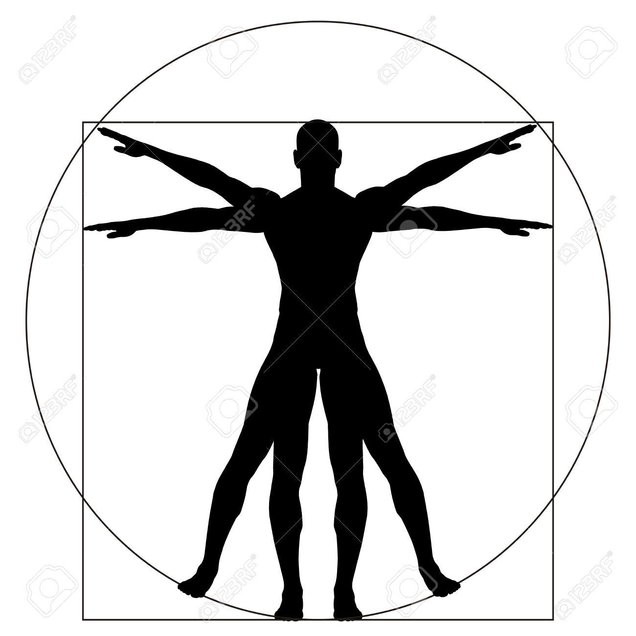 Vitruvian Menschen Oder Der Mensch Als Ein Konzept Oder ...