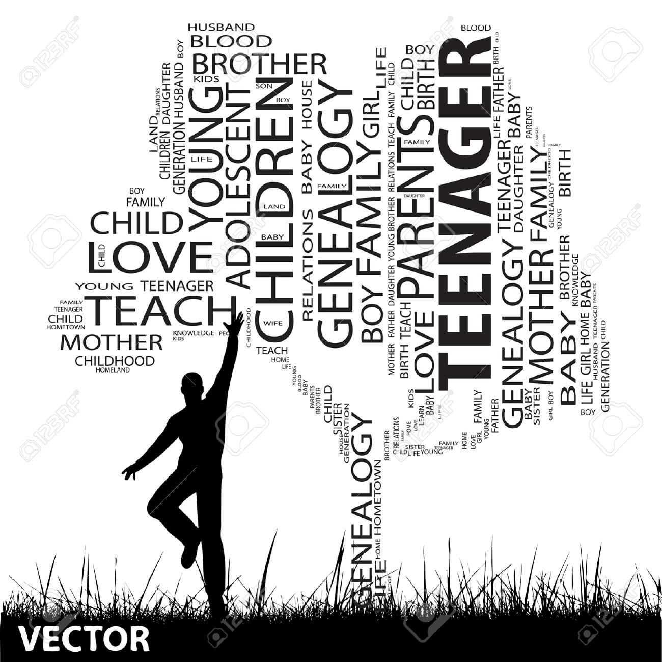 Vector Concept Or Conceptual Black Education Text Word Cloud