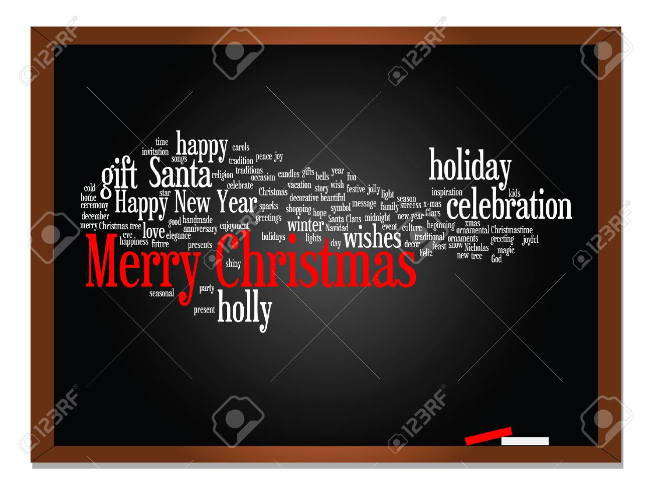 Buon Natale Del C Testo.Vector La Nuvola Concettuale Di Parola Del Testo Di Buon Natale Di