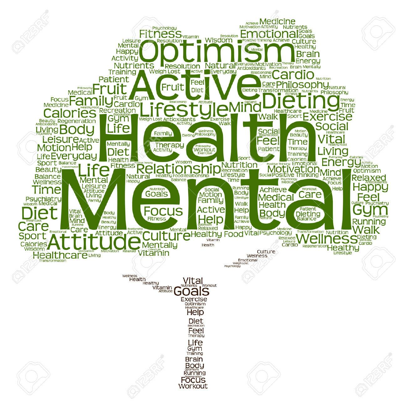 Vector Conceptual Mental Health Or Positive Thinking Abstract