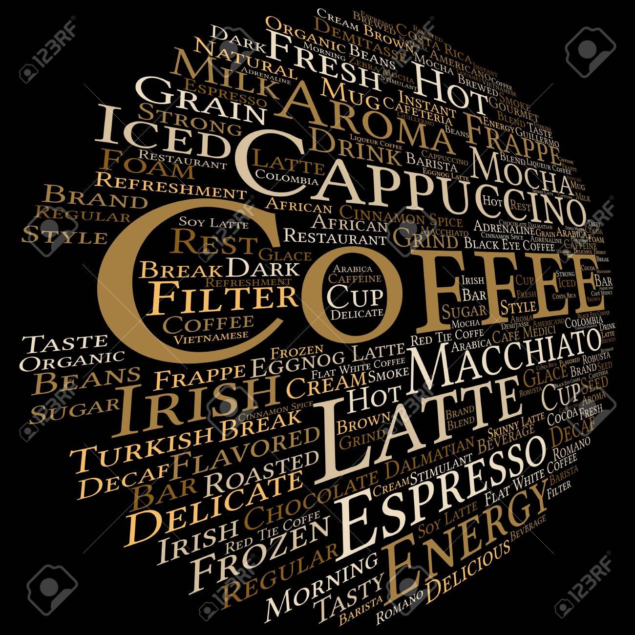 Konzept Konzeptionell Kreative Heißen Kaffee, Cappuccino Oder ...