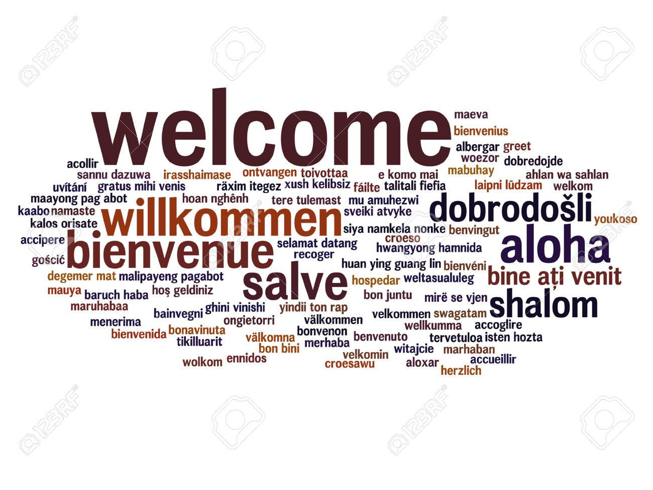 Vector Concept Or Conceptual Abstract Welcome Or Greeting