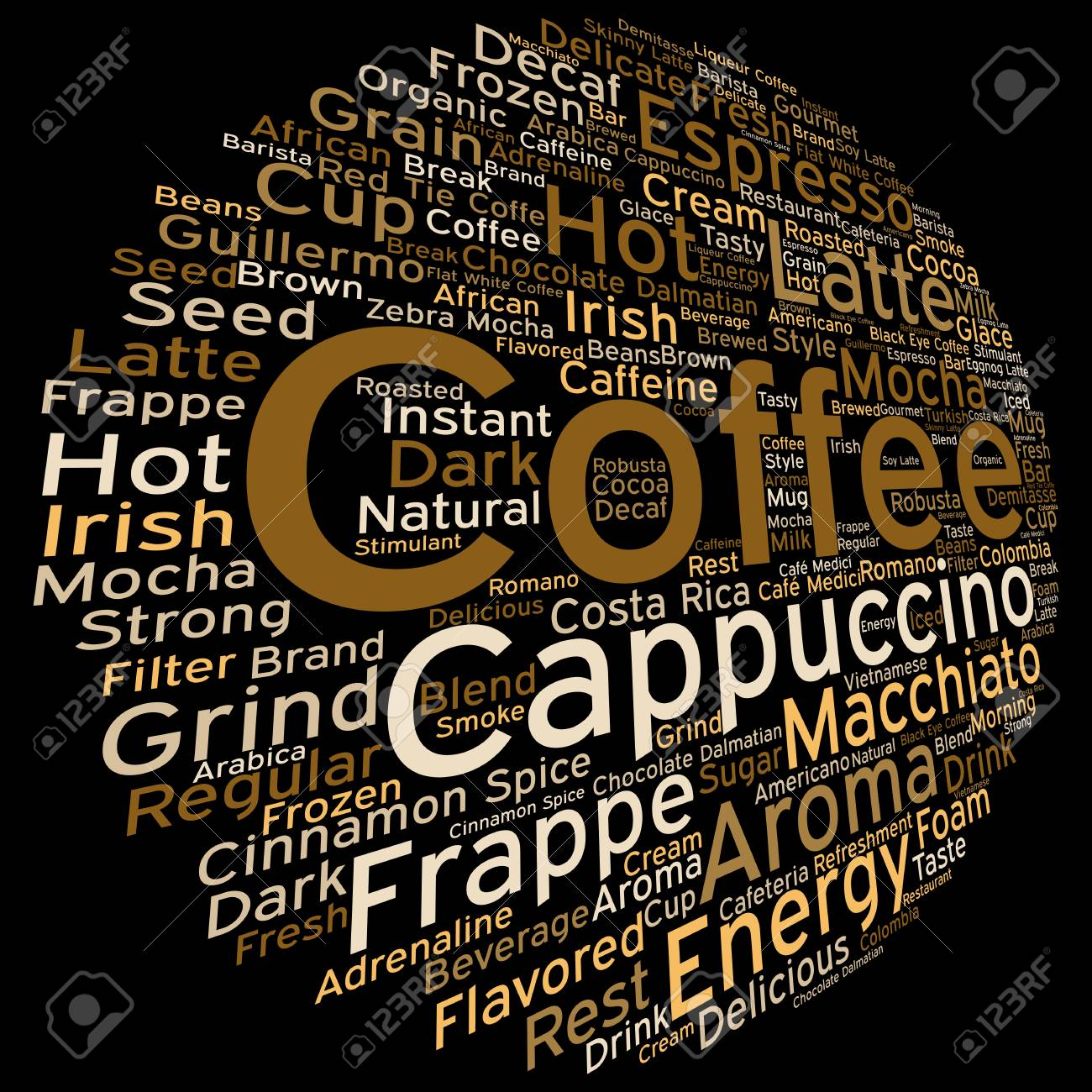 Konzept Konzeptionelle Kreative Heißen Kaffee, Cappuccino Oder ...