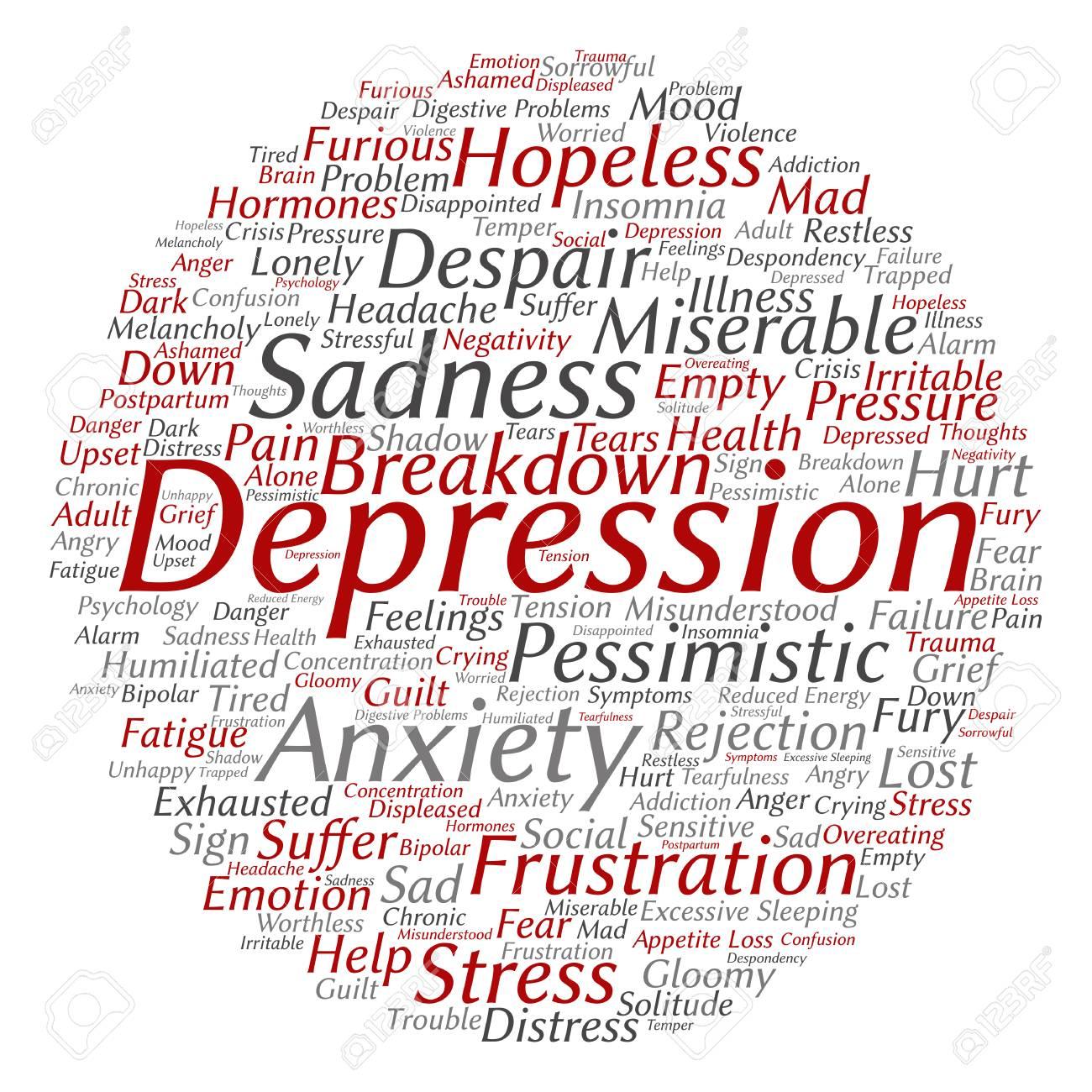 概念の Depresion または分離さ...