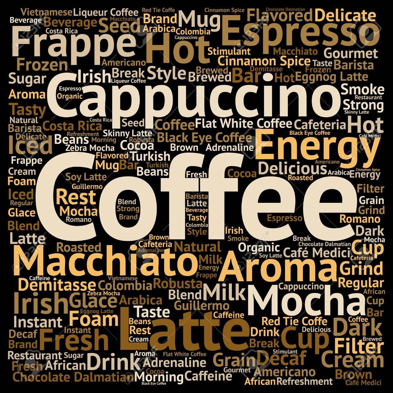 Konzeptionelle Konzeptionelle Kreative Heißen Kaffee, Cappuccino ...