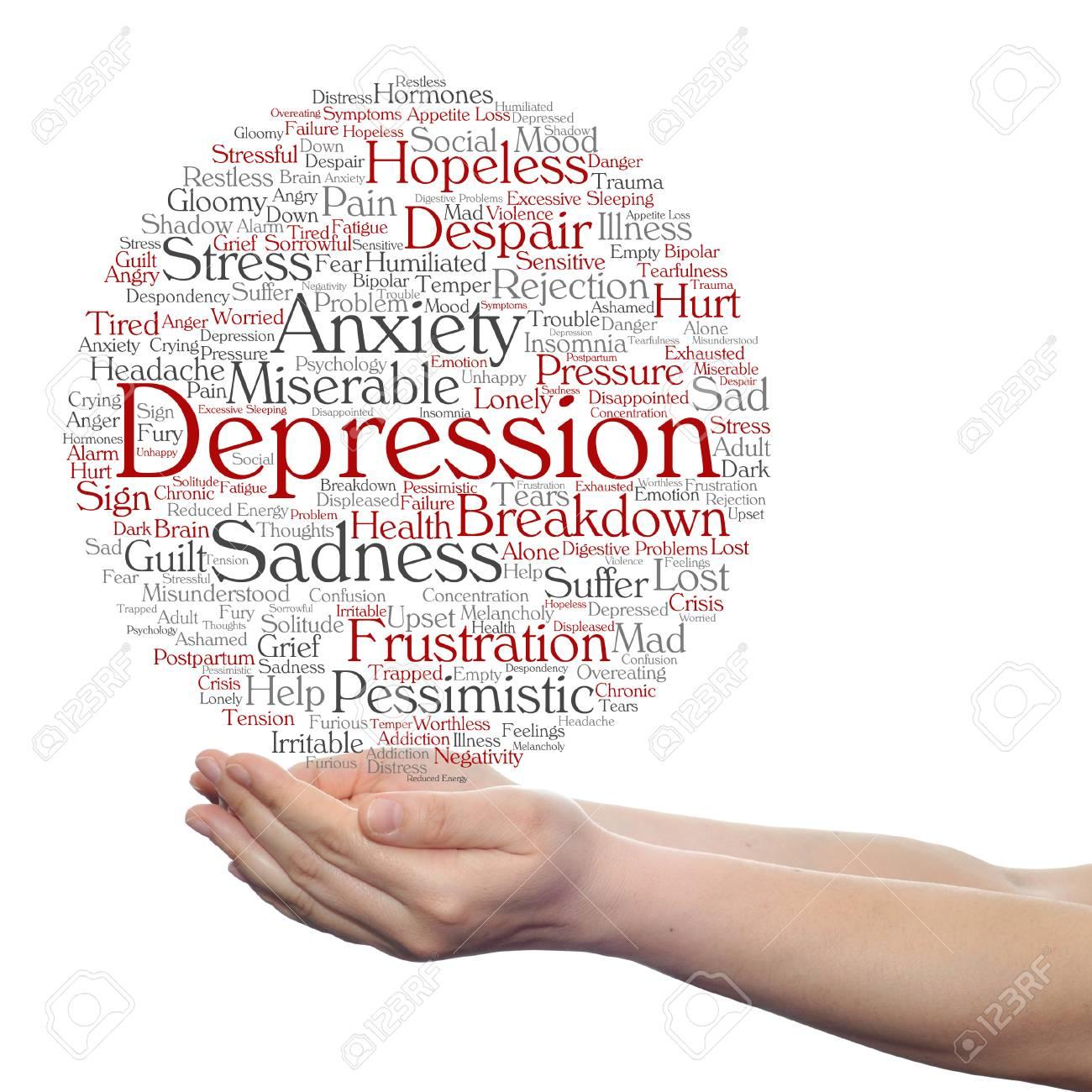 概念または概念うつ病や精神情緒...