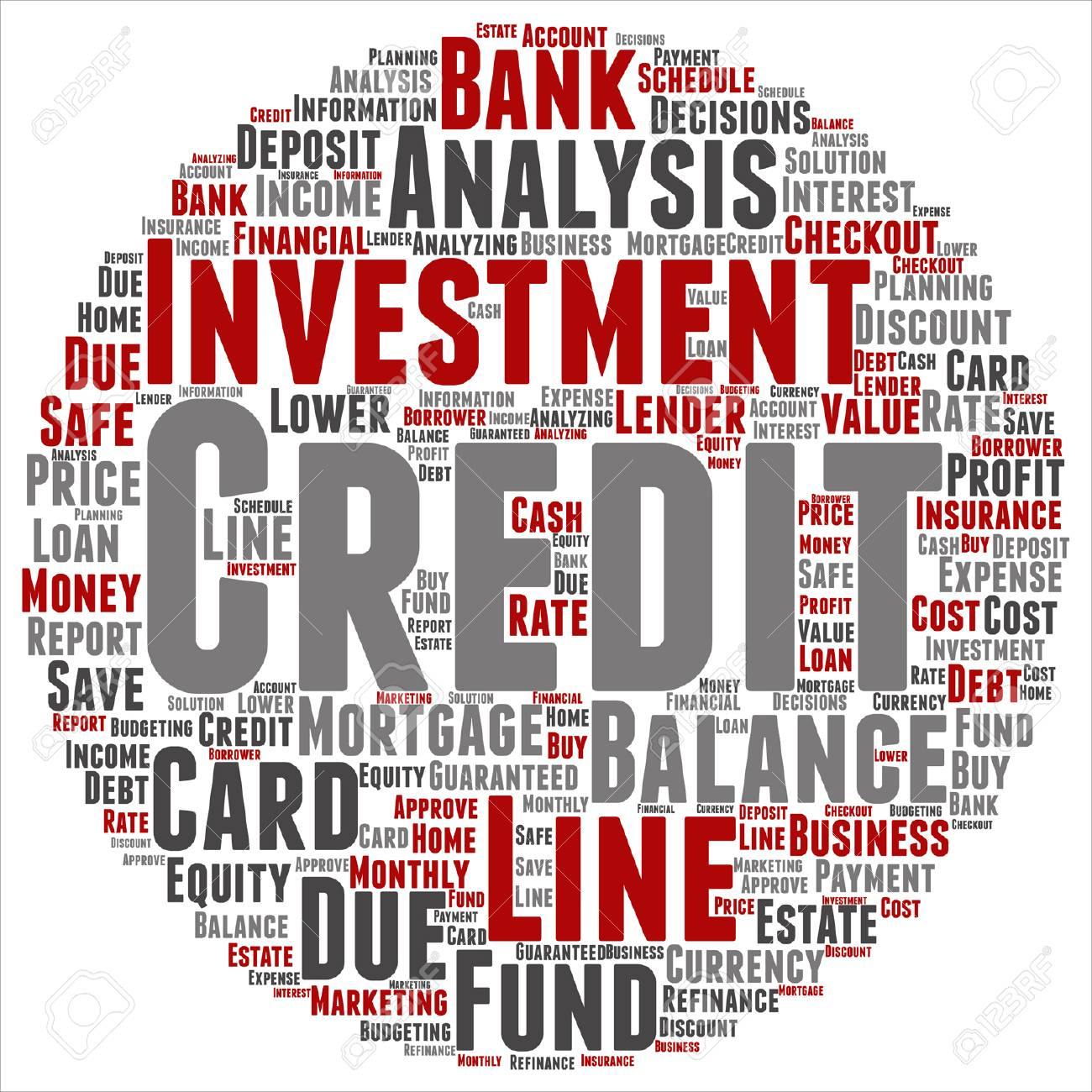 Vector conceptual credit card line investment balance target vector vector conceptual credit card line investment balance target word cloud isolated background collage of money analysis business fund balance colourmoves