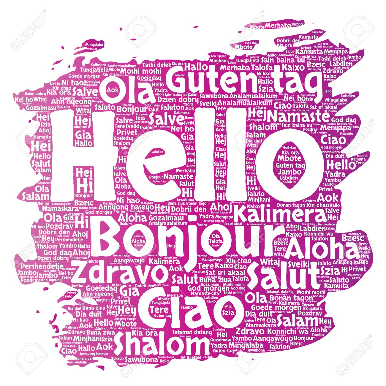 Concept or conceptual brush or paint hello or greeting concept or conceptual brush or paint hello or greeting international tourism word cloud in different languages kristyandbryce Image collections