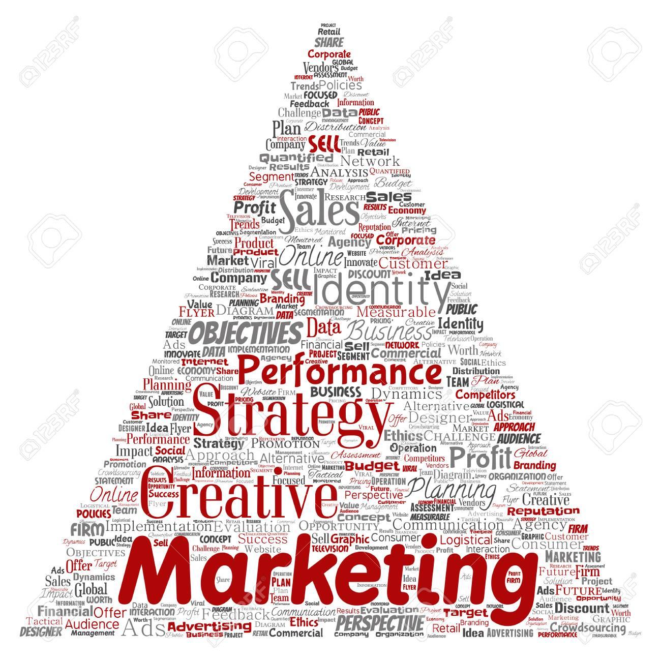 Conceptual Development Business Marketing Target Triangle Arrow ...
