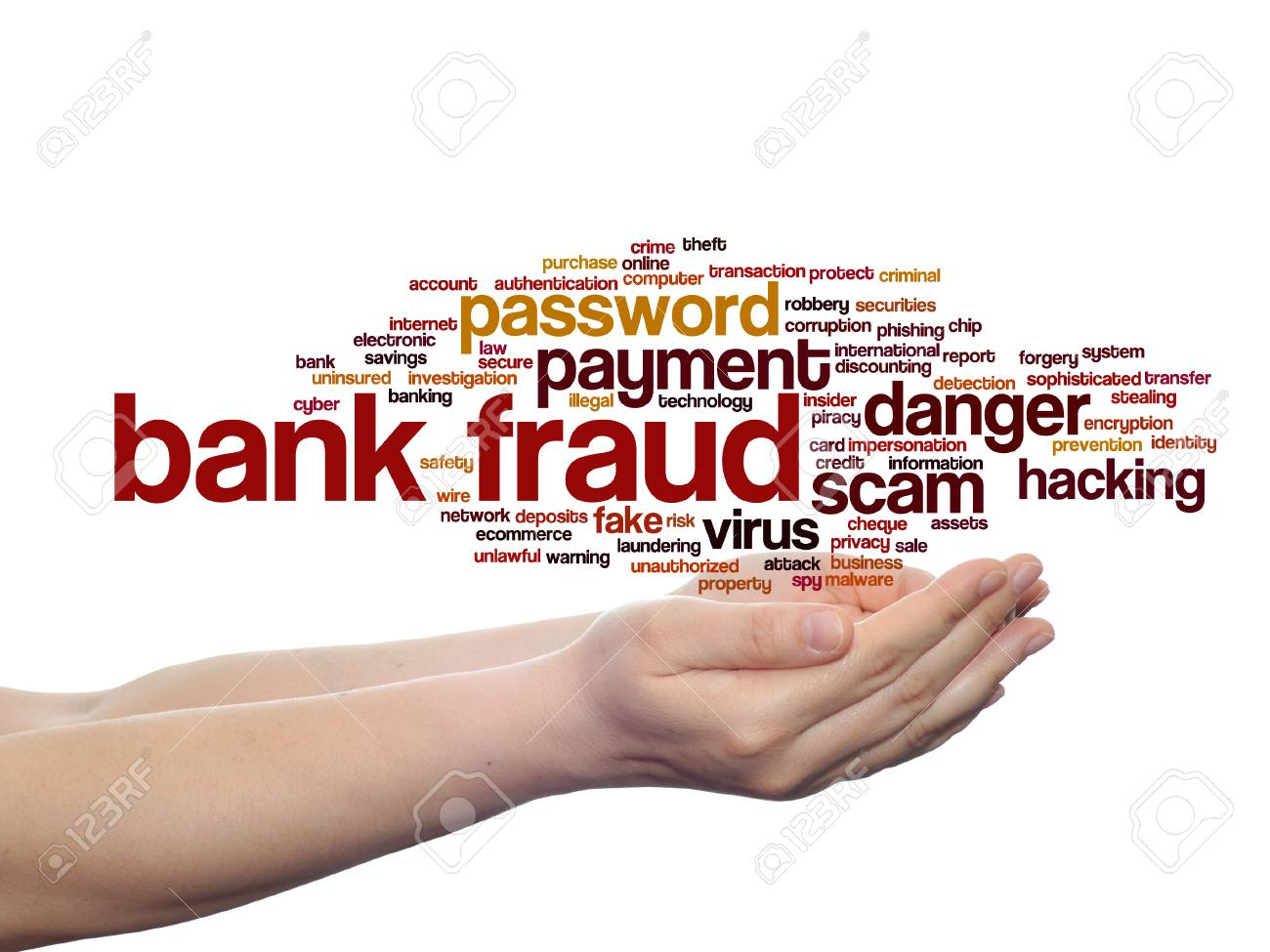 Concept Or Conceptual Bank Fraud Payment Scam Danger Word Cloud Stock Photo Picture And Royalty Free Image Image 94467022