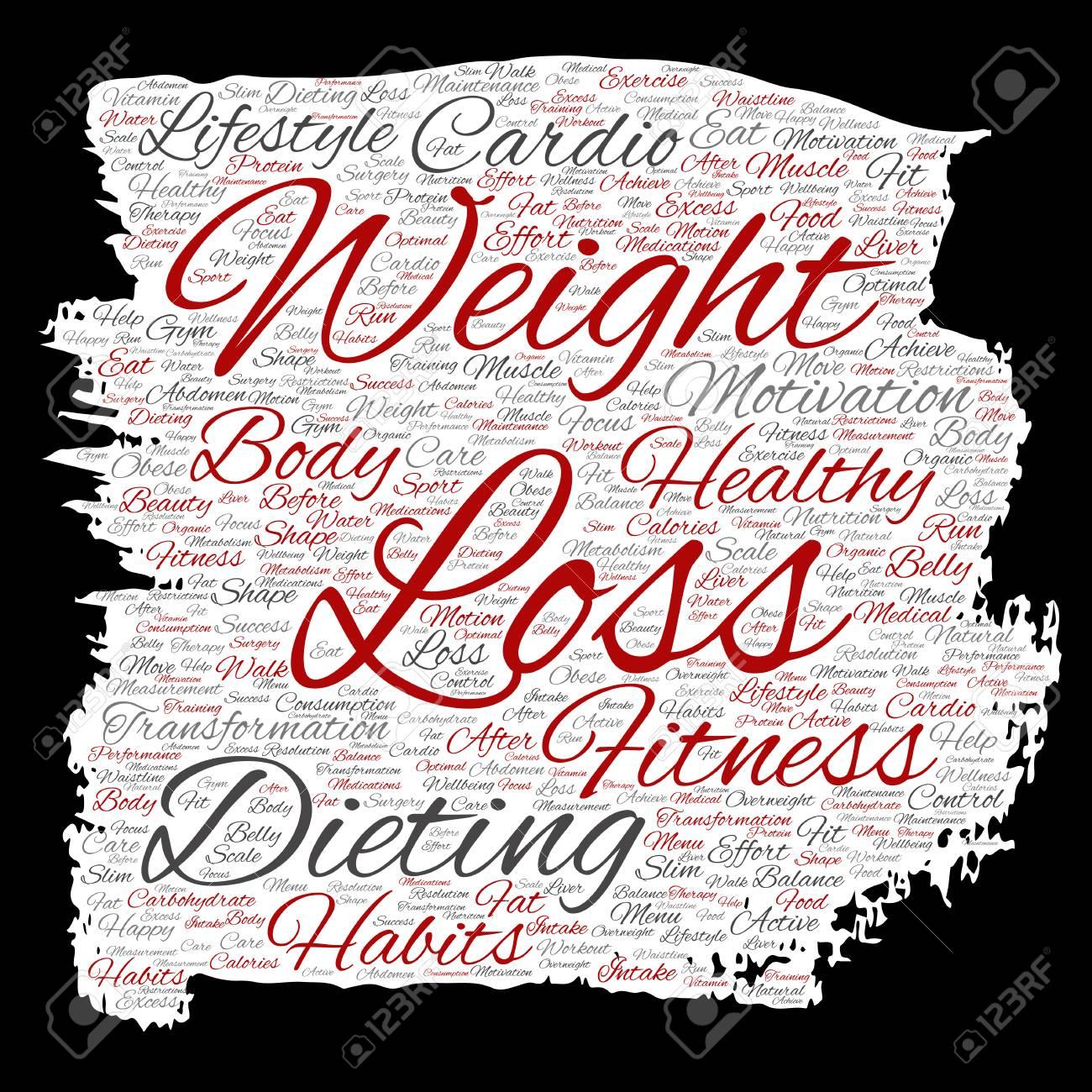 Konzeptionelle Gewichtsverlust Gesunde Diat Transformation Farbe
