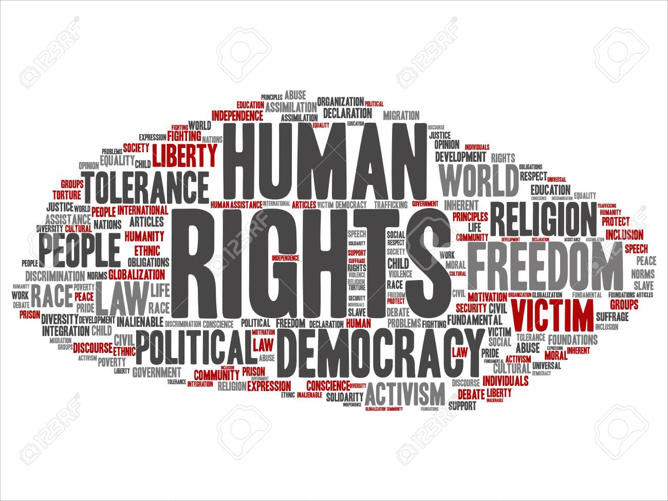 Vector Concept Or Conceptual Human Rights Political Freedom,.. Royalty Free  Cliparts, Vectors, And Stock Illustration. Image 129024573.