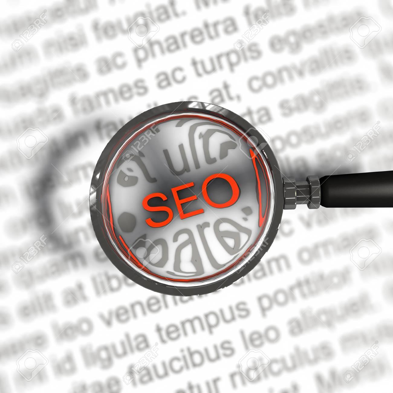 a pictogram to symbolize search engine optimization Stock Photo - 13142934