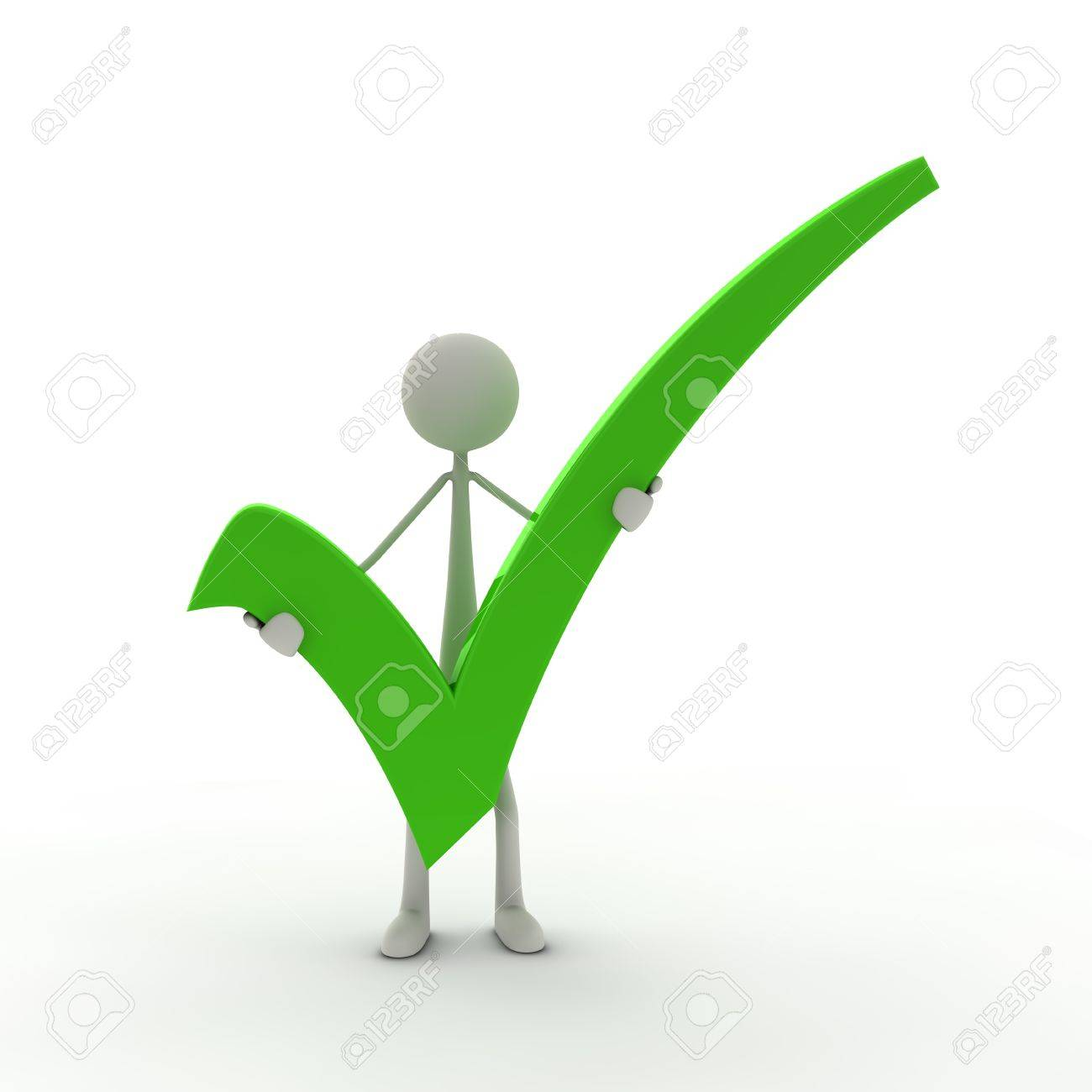 A Figure With A Check Mark Green Stock Photo Picture And Royalty