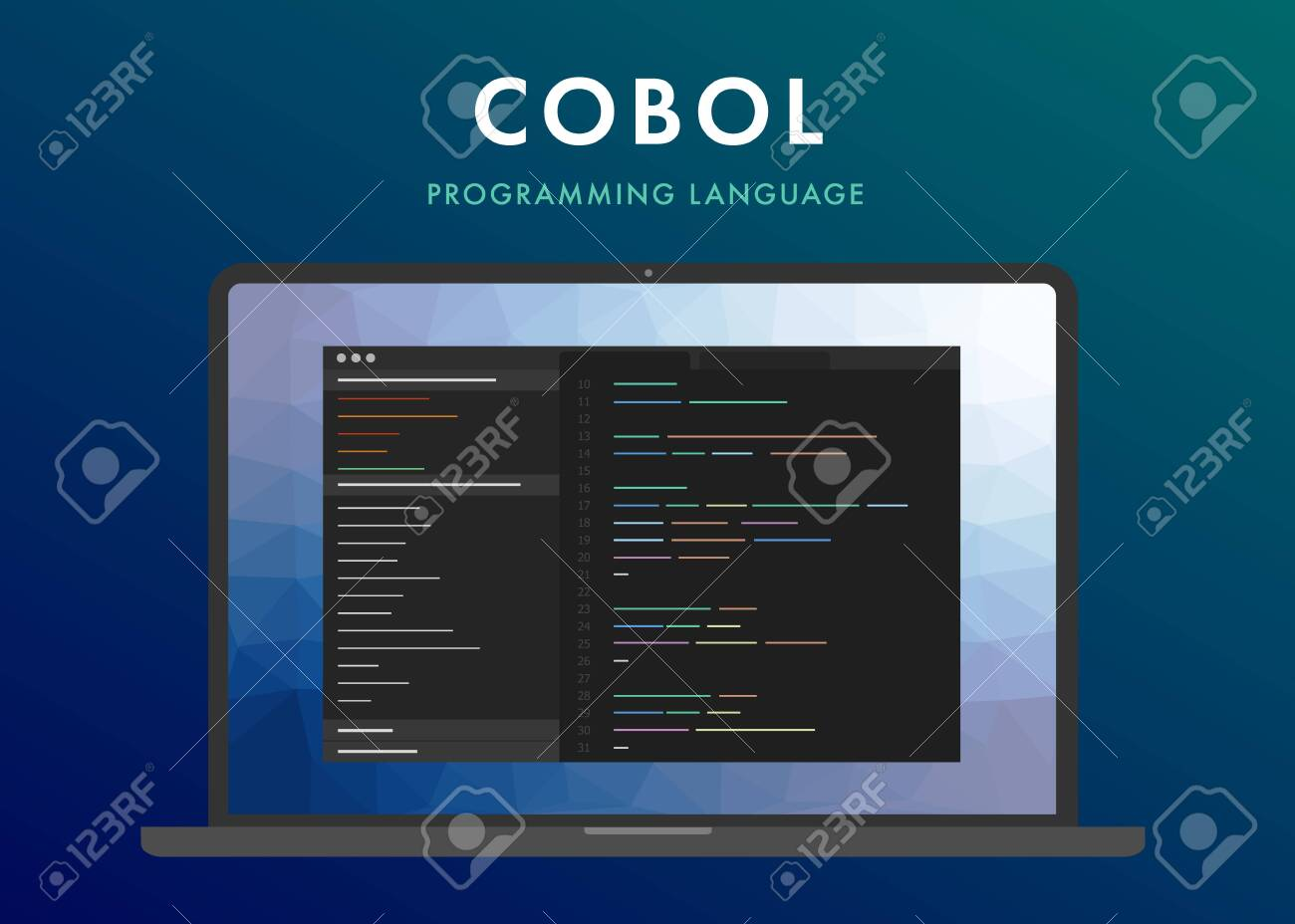 Cobol Programming Language  Learning Concept On The Laptop