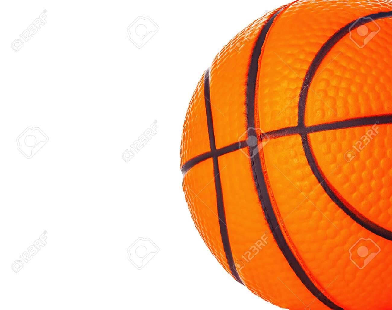 Orange basket ball close-up as a background. - 126197355